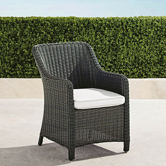 Beaumont Dining Arm Chair in Charcoal Finish, Special Order