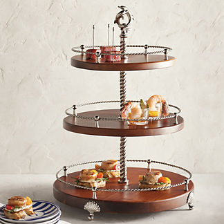 Ocean Luxe Dolphin Three-Tiered Server
