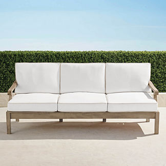 Cassara Sofa with Cushions in Weathered Finish, Special Order