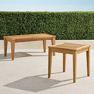 Teak Tables in Natural Finish