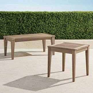Teak Tables in Weathered Finish