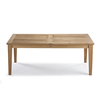 Teak Expandable Dining Table in Weathered Finish