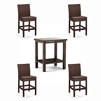 Palermo 5-pc. Counter-height Bar Set in Bronze Finish