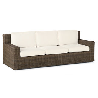 Hyde Park Sofa with Cushions in Ocean Grey Finish