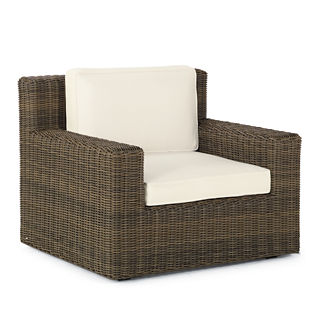 Hyde Park Lounge Chair with Cushions in Ocean Grey Finish
