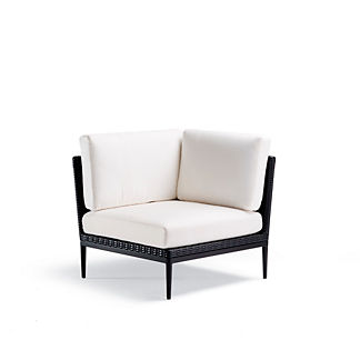 Palazzo Carbon Corner Chair with Cushions, Special Order