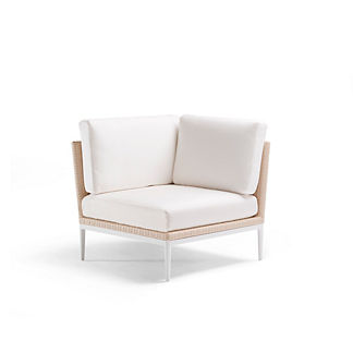 Palazzo Shell Corner Chair with Cushions