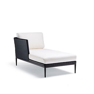 Palazzo Carbon Left-facing Chaise with Cushions