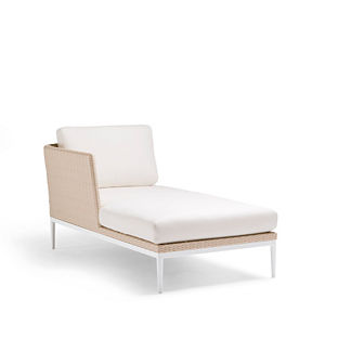 Palazzo Shell Left-facing Chaise with Cushions