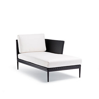 Palazzo Carbon Right-facing Chaise with Cushions