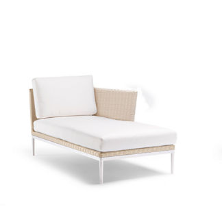 Palazzo Shell Right-facing Chaise with Cushions, Special Order