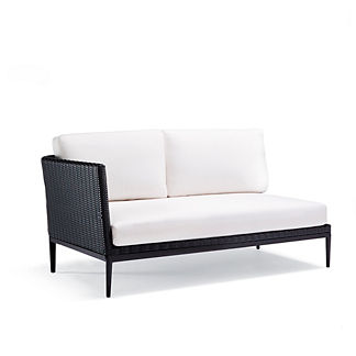 Palazzo Carbon Left-facing Sofa with Cushions