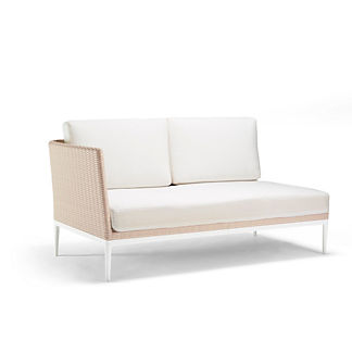 Palazzo Shell Left-facing Sofa with Cushions
