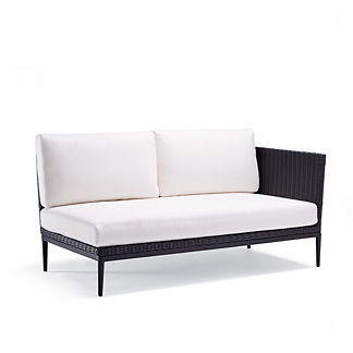 Palazzo Carbon Right-facing Sofa with Cushions by Porta Forma