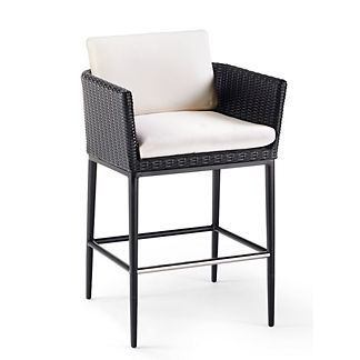Palazzo Carbon Bar Stool with Cushion, Special Order