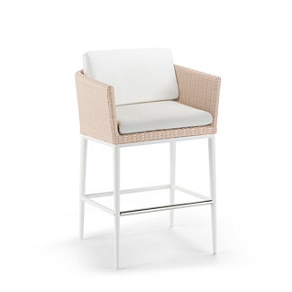 Palazzo Shell Bar Stool with Cushion by Porta Forma