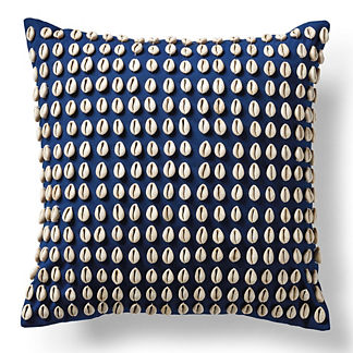 Kauri Shell Indigo Outdoor Pillow