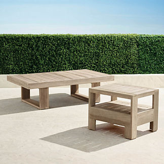St. Kitts Tables in Weathered Teak Finish