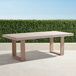 St. Kitts Rectangular Dining Table in Weathered Teak
