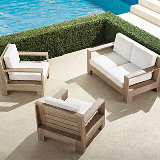 St. Kitts 3-pc. Loveseat Set in Weathered Teak