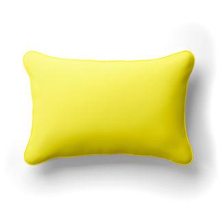 Solid Lumbar Indoor/Outdoor Pillow