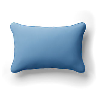 Solid Lumbar Indoor/Outdoor Pillow