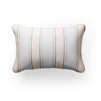 Silky Stripe Lumbar Indoor/Outdoor Pillow