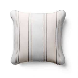 Silky Stripe Square Indoor/Outdoor Pillow