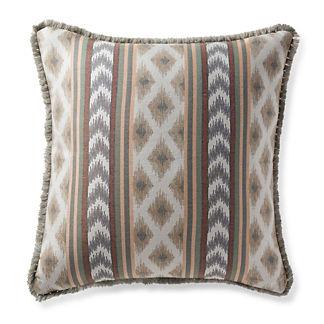 Ensenada Stripe Dove Outdoor Pillow