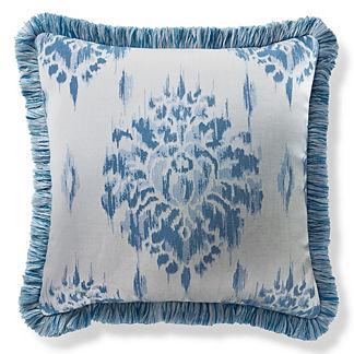 Java Crest Cobalt Outdoor Pillow