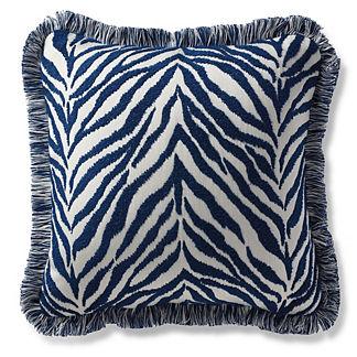 Nyamira Indigo Outdoor Pillow