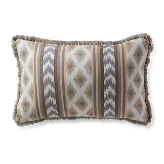 Ensenada Stripe Dove Outdoor Lumbar Pillow