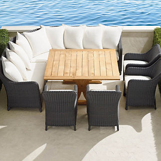 Beaumont 8-pc. Dining Set in Charcoal Finish, Special Order