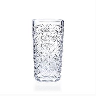 Carleton Varney Caning Highball Glasses, Set of Six