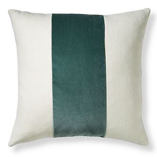 Velvet Band Stripe Pillow