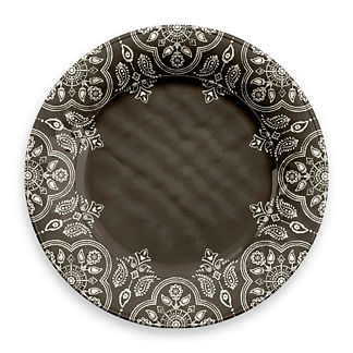 India Stamp Dinner Plates, Set of Four