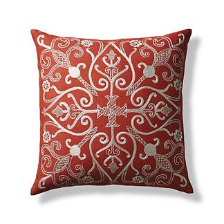 Trellis Gate Decorative Pillow
