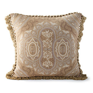 Aubusson Brush Fringe Decorative Pillow