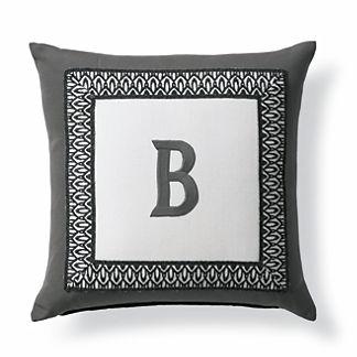 Tortola Monogram Outdoor Pillow