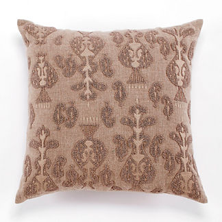 Natural Beaded Decorative Pillow