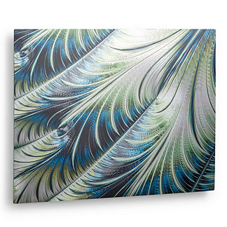 Silver Leaves Aluminum Outdoor Wall Art