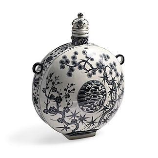 Waves Black Ming Vase