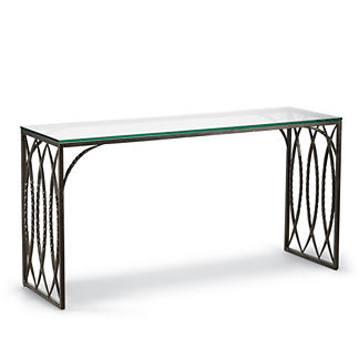 Valletta Console Table with Glass Top
