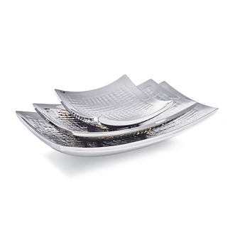Matrix Curved Serving Trays by Porta Forma, Set of Three