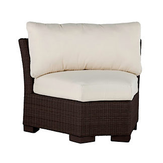 Club Woven Inside Round Corner Chair with Cushions by Summer Classics