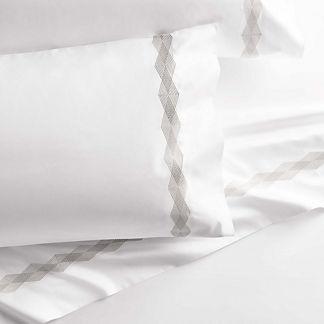 Geo Diamond Pillowcases, Set of Two