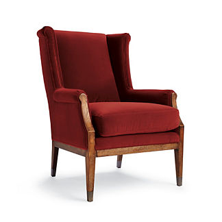 Emery Upholstered Chair in Paprika