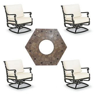 Carlisle 5-pc. Provenca Fire Chat Set in Onyx Finish