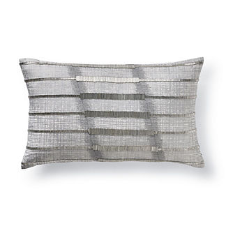 Piper Silver Beaded Lumbar Pillow
