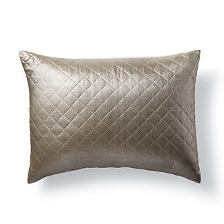 Ariana Quilted Metallic Decorative Lumbar Pillow